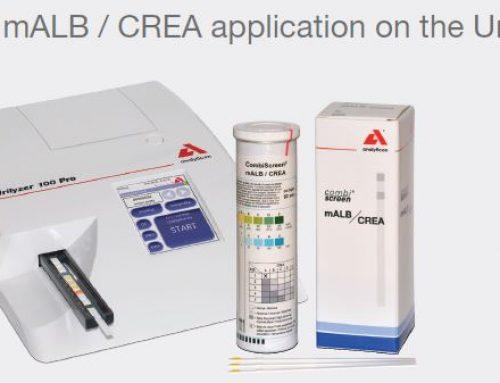 Précisions sur les bandelettes de tests urinaires CombiScreen® mALB/CREA